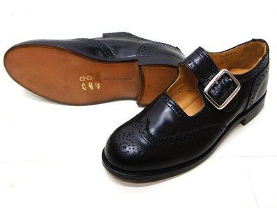 画像2: Tricker's(トリッカーズ)Mary Jane Brogue Shoes(メリージェーン ブローグシューズ)レザーソール/Black Box Calf(ブラックボックスカーフ)