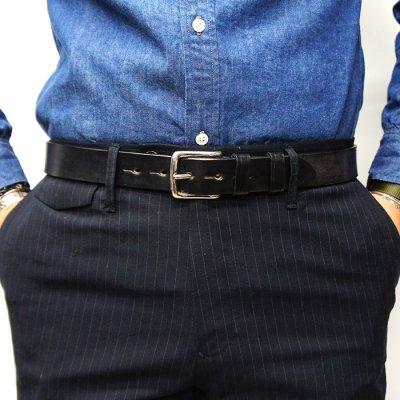 画像5: Martin Faizey(マーティンフェイジー)1.25inch West End Buckle Saddle Leather Belt(サドルレザーベルト)/Black(ブラック)