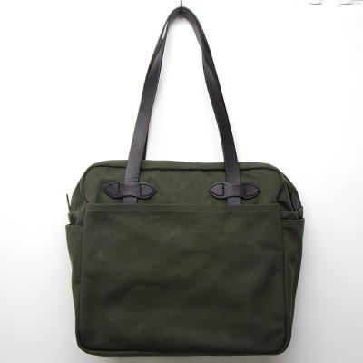 画像1: FILSON(フィルソン)TOTE BAG WITH ZIPPER(ジッパー付トートバッグ)/OTTER GREEN(オッターグリーン)
