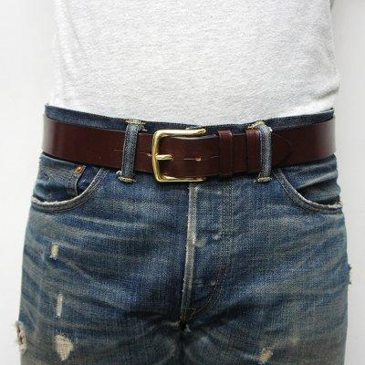 画像5: Martin Faizey(マーティンフェイジー)1.5inch West End Buckle Saddle Leather Belt(サドルレザーベルト)/Havana Brown(ハバナブラウン)