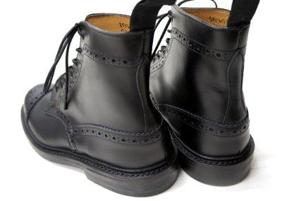 画像5: Tricker's(トリッカーズ)キャップトゥ ブローグブーツ(ダイナイトソール)/Black Box Calf(ブラックボックスカーフ)