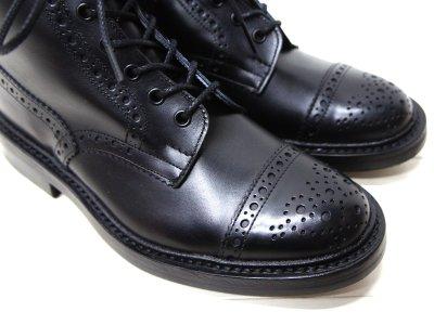 画像3: Tricker's(トリッカーズ)キャップトゥ ブローグブーツ(ダイナイトソール)/Black Box Calf(ブラックボックスカーフ)