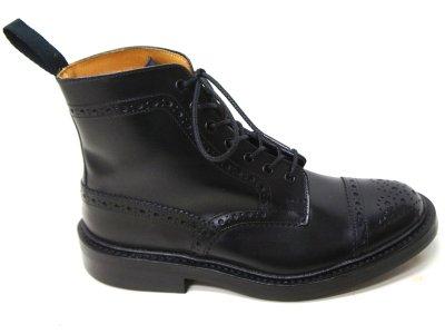 画像4: Tricker's(トリッカーズ)キャップトゥ ブローグブーツ(ダイナイトソール)/Black Box Calf(ブラックボックスカーフ)