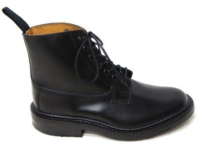画像3: Tricker's(トリッカーズ)プレーントゥ ブーツ(Burford)ダイナイトソール/Black Box Calf(ブラックボックスカーフ)