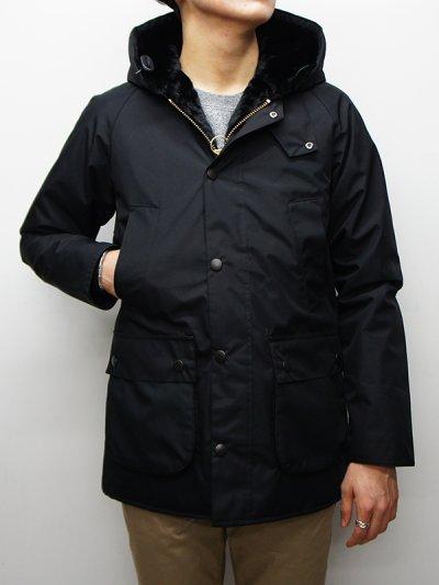 画像1: Barbour(バブァー)Bedale Jacket SL Hooded(スリムフィットビデイルジャケット フーデッド)/Black(ブラック)
