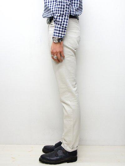 画像2: F.O.B FACTORY(エフオービーファクトリー)PIQUE 5POCKET PANTS(ピケ5ポケットパンツ)/Ivory(アイボリー)【裾上げ無料】