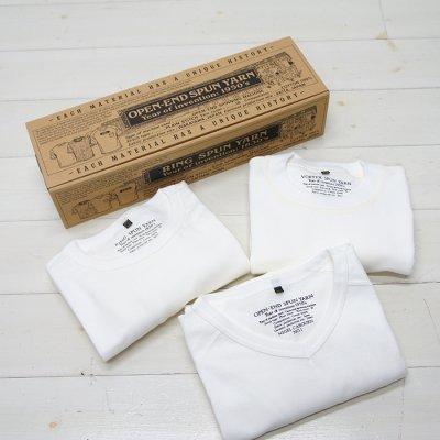 画像1: Nigel Cabourn(ナイジェル・ケーボン)3-PACK GYM TEES(3パックジムTシャツ)/White(ホワイト)