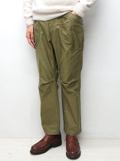 画像1: A VONTADE(アボンタージ)Fatigue Trousers(ファティーグトラウザー)Military Backsateen/Olive(オリーブ)【裾上げ無料】