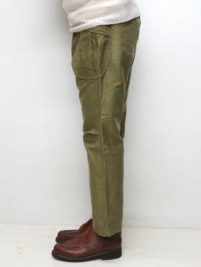 画像2: A VONTADE(アボンタージ)Fatigue Trousers(ファティーグトラウザー)Military Backsateen/Olive(オリーブ)【裾上げ無料】