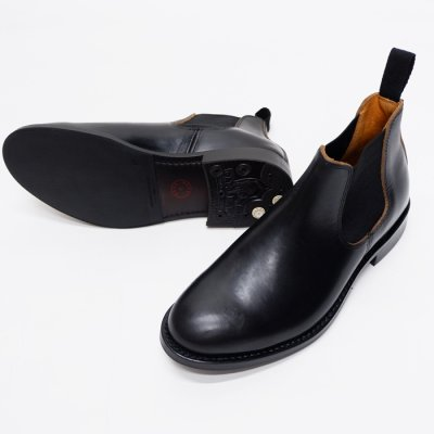 画像2: WHEEL ROBE(ウィールローブ)ELASTIC SIDE BOOTS(エラスティックサイドブーツ)/Black(ブラック)