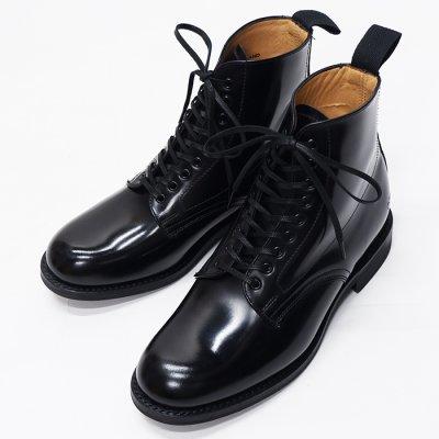 画像1: SANDERS(サンダース)Female Military Derby Boot(レディース ミリタリーダービーブーツ)ラバーソール/Black(ブラック)