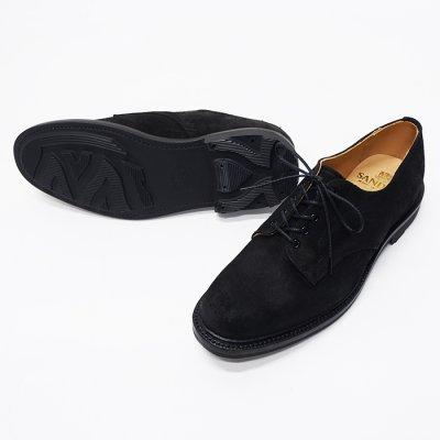 画像2: SANDERS(サンダース)Plain Toe Shoe(プレーントゥシューズ)/Black Waxy Suede(ブラックワクシースエード)