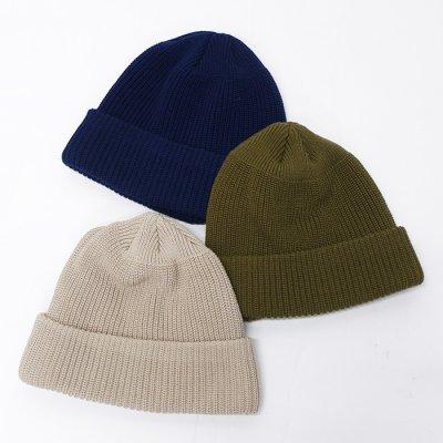 画像1: DECHO(デコー)Cotton Knit Cap(コットンニットキャップ)/Beige(ベージュ)・Khaki(カーキ)・Navy(ネイビー)