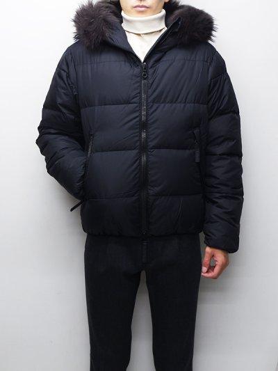 画像1: '18-19 F/W New!!DUVETICA(デュベティカ)VEGACINQUE(ベガチンクエ)Grey Fur-FinRacoon/999(nero)ブラック