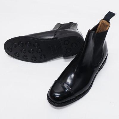 画像2: SANDERS(サンダース)Military Cap Toe Chelsea Boot(ミリタリーキャップトゥチェルシーブーツ)/Black(ブラック)