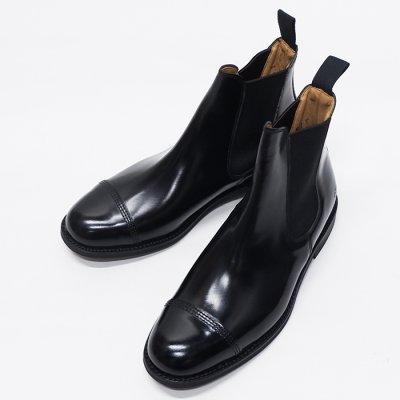 画像1: SANDERS(サンダース)Military Cap Toe Chelsea Boot(ミリタリーキャップトゥチェルシーブーツ)/Black(ブラック)