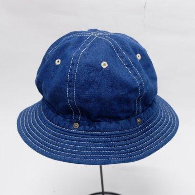 画像1: DECHO(デコー)STANDARD KOME HAT(スタンダードコメハット)Cotton Linen Denim/S.Blue(S.ブルー)