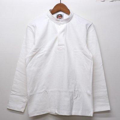 画像1: BARBARIAN(バーバリアン)クラシック ヘンリーネックシャツ(SOLID)/White(ホワイト)