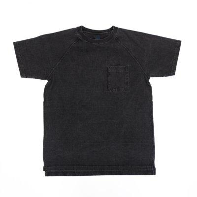 """画像1: Good On(グッドオン)Short Sleeve Heavy Raglan Pocket Tee(ショートスリーブヘビーラグランポケットTシャツ)""""Pigment Dye""""/Black(ブラック)"""
