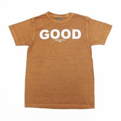 """画像1: Good On(グッドオン)Short Sleeve Crew Neck Logo Print Tee(ショートスリーブクルーネックロゴプリントTシャツ)""""Pigment Dye""""/Mocha(モカ)"""
