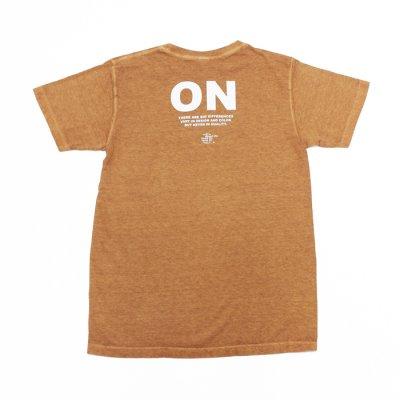 """画像2: Good On(グッドオン)Short Sleeve Crew Neck Logo Print Tee(ショートスリーブクルーネックロゴプリントTシャツ)""""Pigment Dye""""/Mocha(モカ)"""