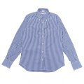"INDIVIDUALIZED SHIRTS(インディビジュアライズドシャツ)Standard Fit Long Sleeve B.D""Gingham Check""/Navy(ネイビー)"