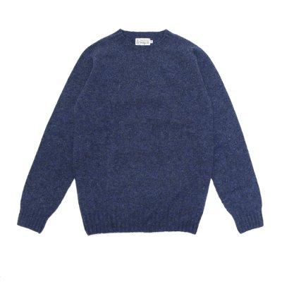 画像1: INVERALLAN(インバーアラン)Crew Neck Saddle Shoulder Sweater(クルーネックサドルショルダーセーター)/Denim(デニム)