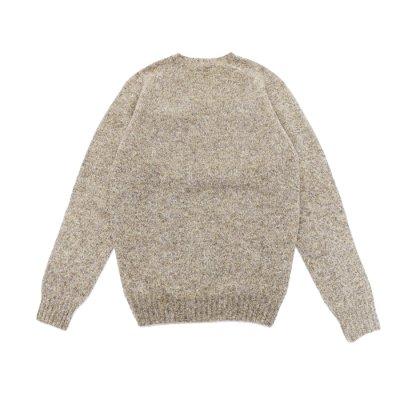 画像2: INVERALLAN(インバーアラン)Crew Neck Saddle Shoulder Sweater(クルーネックサドルショルダーセーター)/Mushroom(マッシュルーム)