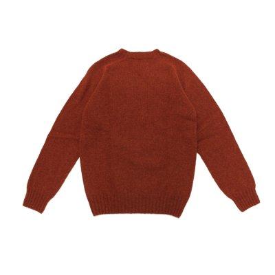 画像2: INVERALLAN(インバーアラン)Crew Neck Saddle Shoulder Sweater(クルーネックサドルショルダーセーター)/Blaze(ダークレッド)