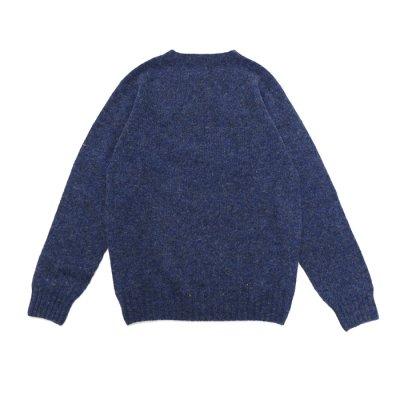 画像2: INVERALLAN(インバーアラン)Crew Neck Saddle Shoulder Sweater(クルーネックサドルショルダーセーター)/Denim(デニム)