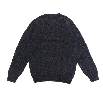 画像2: INVERALLAN(インバーアラン)Crew Neck Saddle Shoulder Sweater(クルーネックサドルショルダーセーター)/Charcoal(チャコールグレー)