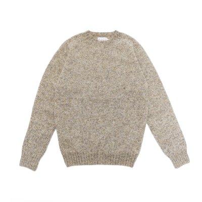画像1: INVERALLAN(インバーアラン)Crew Neck Saddle Shoulder Sweater(クルーネックサドルショルダーセーター)/Mushroom(マッシュルーム)