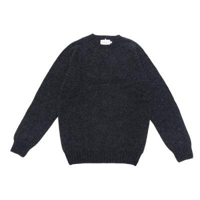 画像1: INVERALLAN(インバーアラン)Crew Neck Saddle Shoulder Sweater(クルーネックサドルショルダーセーター)/Charcoal(チャコールグレー)