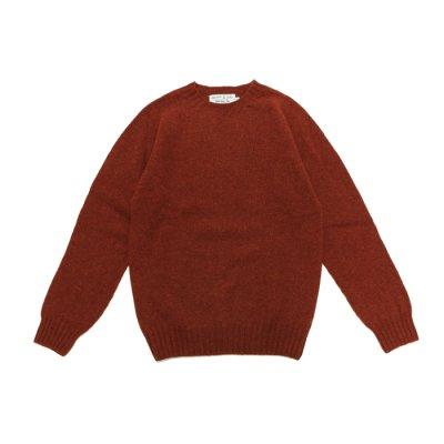 画像1: INVERALLAN(インバーアラン)Crew Neck Saddle Shoulder Sweater(クルーネックサドルショルダーセーター)/Blaze(ダークレッド)
