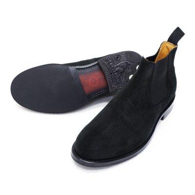 画像2: WHEEL ROBE(ウィールローブ)ELASTIC SIDE BOOTS(エラスティックサイドブーツ)/Black Suede(ブラックスエード)