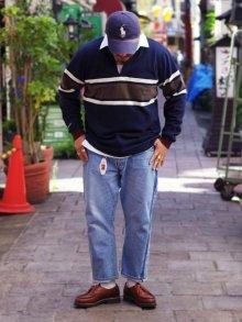 他の写真1: BARBARIAN(バーバリアン)クラシック ラガーシャツ(CENTER STRIPES)/Navy×Ivory×Moss(ネイビー×アイボリー×モスグリーン)※Exclusive