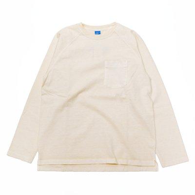 """画像1: Good On(グッドオン)Long Sleeve Heavy Raglan Pocket Tee(ロングスリーブヘビーラグランポケットTシャツ)""""Pigment Dye""""/Natural(ナチュラル)"""