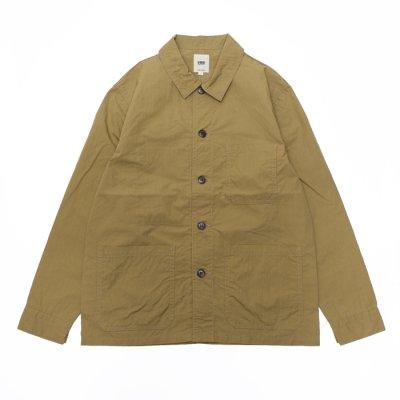 画像1: F.O.B FACTORY(エフオービーファクトリー)FRENCH SHIRT JACKET(フレンチシャツジャケット)Cotton Nylon/Khaki(カーキ)