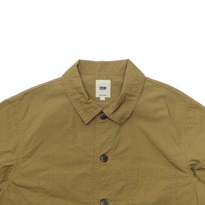 画像2: F.O.B FACTORY(エフオービーファクトリー)FRENCH SHIRT JACKET(フレンチシャツジャケット)Cotton Nylon/Khaki(カーキ)