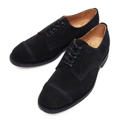 画像1: ※Exclusive※SANDERS(サンダース)Military Derby Shoe(ミリタリーダービーシューズ)/Black Suede(ブラックスエード)