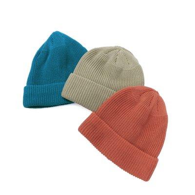 画像1: DECHO(デコー)Cotton Knit Cap(コットンニットキャップ)/Brick(ブリック)・S.Beige(Sベージュ)・E.Blue(Eブルー)