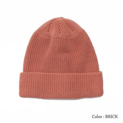 画像2: DECHO(デコー)Cotton Knit Cap(コットンニットキャップ)/Brick(ブリック)・S.Beige(Sベージュ)・E.Blue(Eブルー)