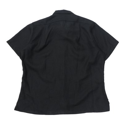 "画像2: INDIVIDUALIZED SHIRTS(インディビジュアライズドシャツ)Camp Collar Short Sleeve Shirts""Linen""/Black(ブラック)"