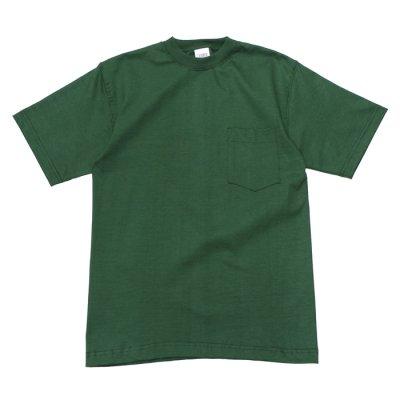 画像1: CAMBER(キャンバー)8oz Max Weight Crew Neck Pocket Tee/Dark Green(ダークグリーン)