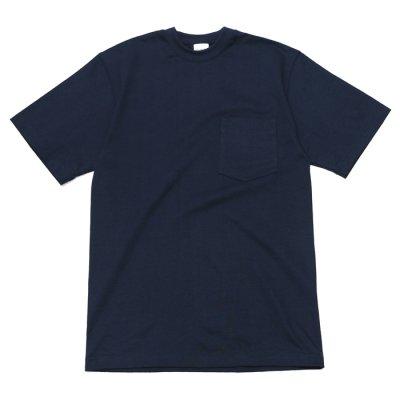 画像1: CAMBER(キャンバー)Max Weight Crew Neck Pocket Tee(マックスウエイトクルーネックポケット付Tシャツ)8oz/Navy(ネイビー)
