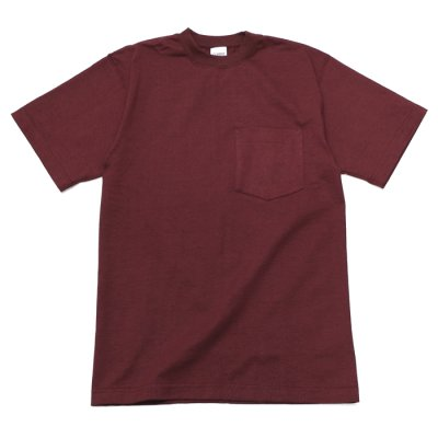画像1: CAMBER(キャンバー)Max Weight Crew Neck Pocket Tee(マックスウエイトクルーネックポケット付Tシャツ)8oz/Burgundy(バーガンディ)