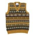 Jamieson's(ジャミーソンズ)Fairisle V-Neck Vest(フェアアイル柄Vネックベスト)/Mustard(マスタード)