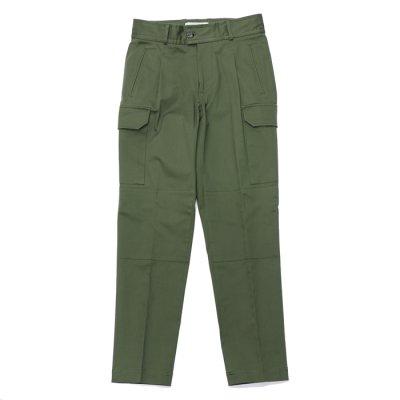画像1: '21SS New!!giabsarchivio(ジャブスアルキヴィオ)BRUNELLESCHI(ブルネレスキー)ITALIAN COTTON TWILL STRETCH/Military Green(ミリタリーグリーン)【裾上げ無料】