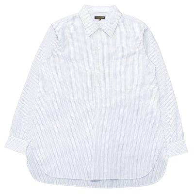 画像1: A VONTADE(アボンタージ)Pullover Shirts(プルオーバーシャツ)Hardtwist Yarn Seersucker/White Stripe(ホワイトストライプ)