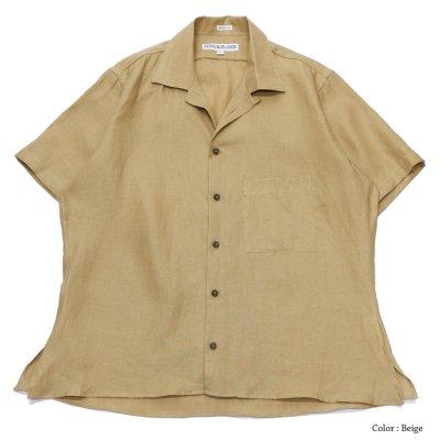 """画像2: INDIVIDUALIZED SHIRTS(インディビジュアライズドシャツ)/Camp Collar Short Sleeve Shirt(キャンプカラーショートスリーブシャツ)""""Linen"""""""